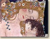 Mother and baby-Painting by Gustav Klimt